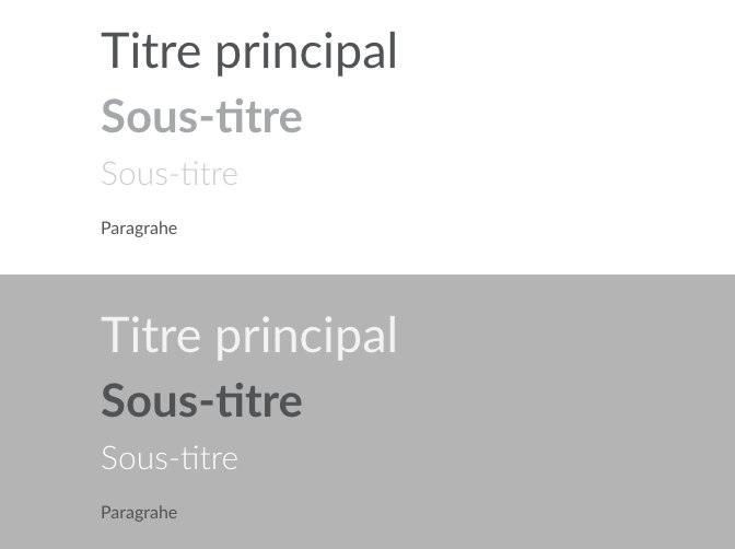ergonomie choix typographie